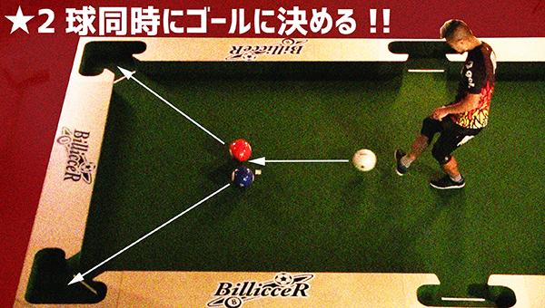 2球同時にゴールを決める!ツインシュート